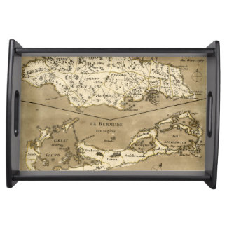 MAP: JAMAICA, 1767 SERVING TRAY