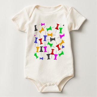 Map Knob Pins Baby Bodysuit