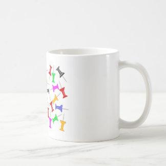 Map Knob Pins Coffee Mug