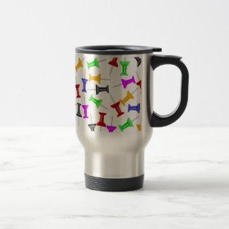 Map Knob Pins Travel Mug