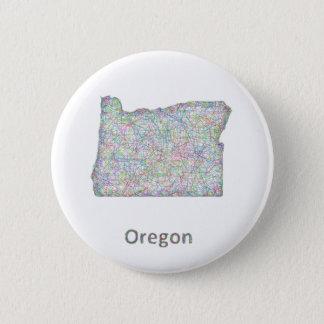 map_line_US_01_Oregon.ai 2 Inch Round Button