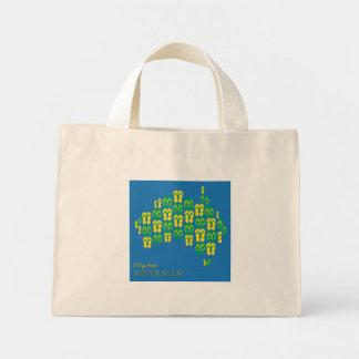 Map made of Aussie thongs Mini Tote Bag