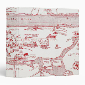 MAP: MANHATTAN, c1935 3 Ring Binders