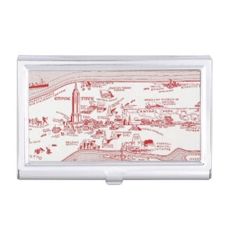 MAP: MANHATTAN, c1935 Business Card Cases