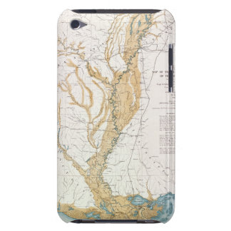 MAP: MISSISSIPPI RIVER, 1861 BARELY THERE iPod CASES