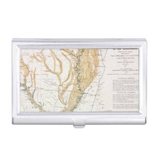 MAP: MISSISSIPPI RIVER, 1861 BUSINESS CARD HOLDER