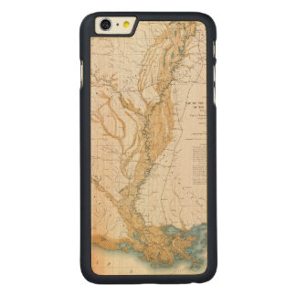MAP: MISSISSIPPI RIVER, 1861 CARVED® MAPLE iPhone 6 PLUS CASE