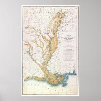 MAP: MISSISSIPPI RIVER, 1861 POSTER