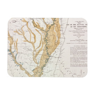 MAP: MISSISSIPPI RIVER, 1861 RECTANGULAR PHOTO MAGNET