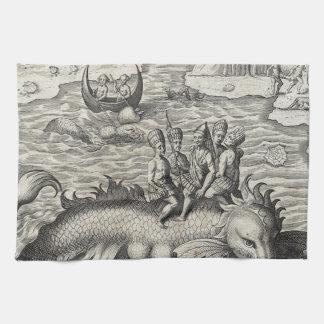 Map Monster/Sea Serpent Kitchen Towel