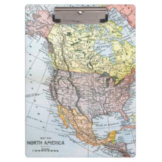 MAP: NORTH AMERICA, 1890 CLIPBOARD