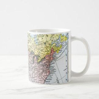 MAP: NORTH AMERICA, 1890 COFFEE MUG