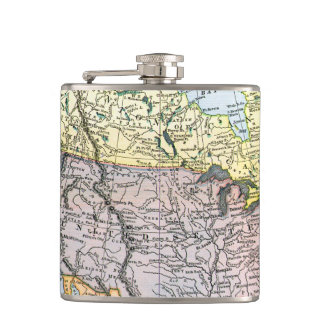 MAP: NORTH AMERICA, 1890 FLASK