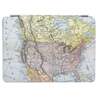 MAP: NORTH AMERICA, 1890 iPad AIR COVER