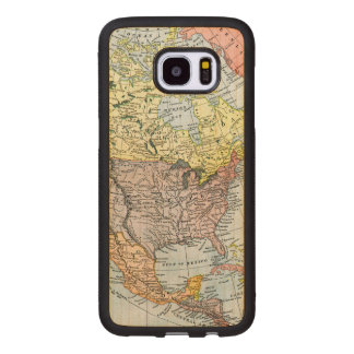 MAP: NORTH AMERICA, 1890 WOOD SAMSUNG GALAXY S7 EDGE CASE