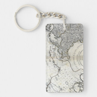 MAP: NORTH PACIFIC Double-Sided RECTANGULAR ACRYLIC KEYCHAIN