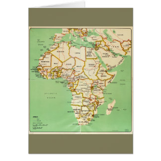 Map of Africa (1966) Card
