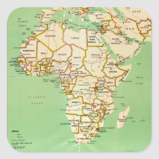 Map of Africa (1966) Square Sticker