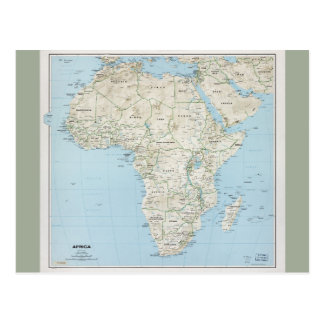Map of Africa (1977) Postcard