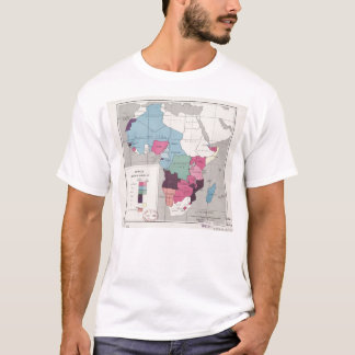 Map of Africa, Administrative Divisions (1957) T-Shirt