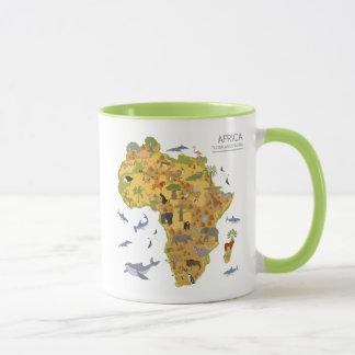 Map of Africa | Flora & Fauna Mug
