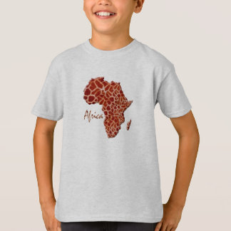 Map of AFRICA L'Afrique Giraffe Spots Design T-Shirt