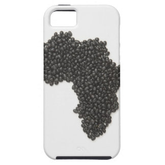 Map of Africa made of Black Beans iPhone 5 Case