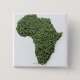Map of Africa made of grass 2 Inch Square Button