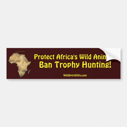 Map of AFRICA Series Bumper Stickers