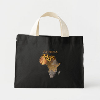 Map of Africa The Dark Continent Canvas Bags