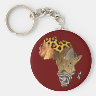 Map of Africa The Dark Continent Keychains