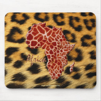Map of Africa The Dark Continent Mouse Pads