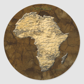 Map of Africa The Dark Continent Round Stickers