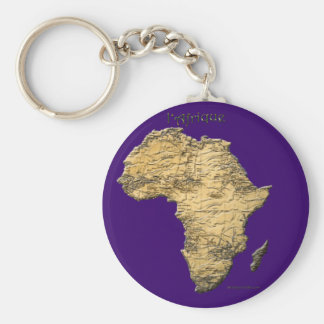 Map of AFRICA Travel Collection Keychain
