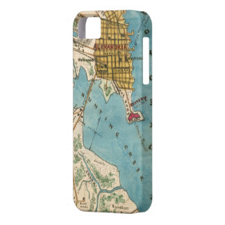 Map of Alexandria VA and Neighboring Cities iPhone 5 Cover