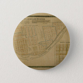 Map Of Allegheny 1863 2 Inch Round Button