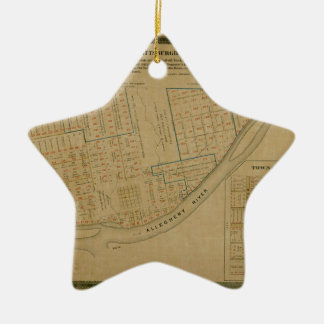 Map Of Allegheny 1863 Ceramic Ornament
