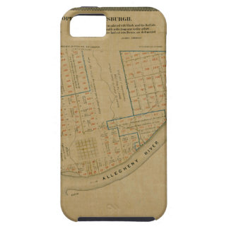 Map Of Allegheny 1863 iPhone 5 Case