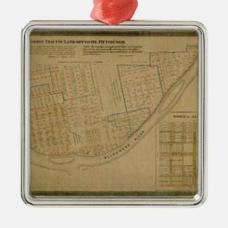 Map Of Allegheny 1863 Metal Ornament
