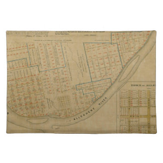 Map Of Allegheny 1863 Placemat