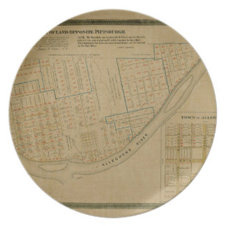 Map Of Allegheny 1863 Plate