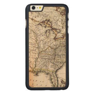 MAP OF AMERICA, 1809 CARVED® MAPLE iPhone 6 PLUS CASE