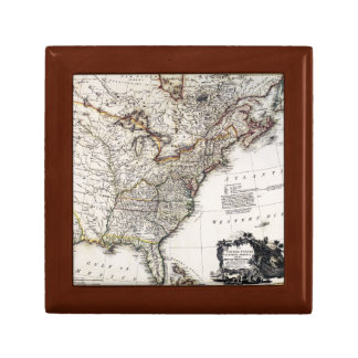 MAP OF AMERICA, 1809 JEWELRY BOXES