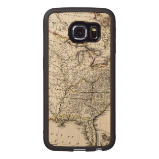MAP OF AMERICA, 1809 WOOD PHONE CASE