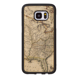MAP OF AMERICA, 1809 WOOD SAMSUNG GALAXY S7 EDGE CASE