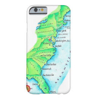 Map of American East Coast Barely There iPhone 6 Case