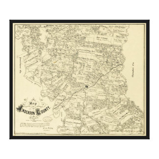 Map of Anderson County, Texas (1879) Canvas Print