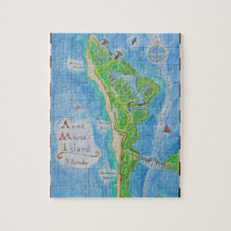 Map of Anna Maria Island Jigsaw Puzzle