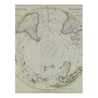 Map of Antarctica 2 Postcard
