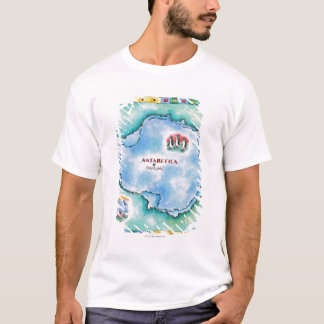 Map of Antarctica T-Shirt